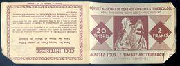 Carnet De 20 Timbres Antituberculeux -- Le Baiser Au Soleil   AVR20-112 - Antitubercolosi