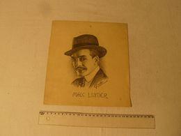 Dessin Au Crayon, Max Linder, Signé J. Caillez, Peintre Cambrésien. Dim: 23.5 X 26 Cm - Dessins