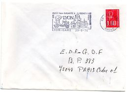 RHONE - Dépt N° 69 = LYON GARE 1976 = FLAMME Type II = SECAP Illustrée ' Musée MALARTRE Rochetaillée' - Postmark Collection (Covers)