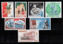 Monaco - YV 1273 / 1274 / 1275 / 1276 / 1277 / 1278 / 1279 N** Divers 1981 Cote 10,50 Euros - Monaco