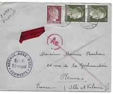 Env. Prisonnier Allemagne 1943 - Storia Postale