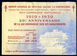 Carnet De  Timbres Antituberculeux -- Nestlé -- Loterie Nationale  AVR20-112 - Antitubercolosi