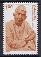India 1990 3rd Death Anniversary Of Chaudhary Charan Singh, MNH, SG 1406 (D) - Neufs
