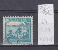 104K175 / 1927-1942 - Michel Nr. 69 Used ( O ) Tiberias Tiberias Am See Genezareth , Palestine Palastina - Palestine
