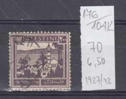 104K176 / 1927-1942 - Michel Nr. 70 Used ( O ) Tiberias Tiberias Am See Genezareth , Palestine Palastina - Palestine