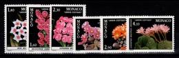 Monaco - YV 1306 à 1311 N** Fleurs & Plantes Du Jardin Exotique Cote 25 Euros - Monaco