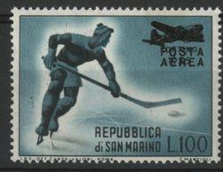 SAINT-MARIN POSTE AERIENNE N° 106 COTE 5 € NEUF ** MNH 100 L Noir Et Vert-bleu - Poste Aérienne
