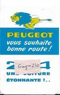 PEUGEOT 204-Petit Calendrier 1966 - Calendriers