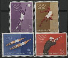 SAINT-MARIN POSTE AERIENNE N° 121 à 124 COTE 2,50 € NEUF ** MNH 1960 JEUX OLYMPIQUES DE ROME - Poste Aérienne