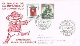 36691. Carta BARCELONA  1972. Exposicion Filatelica Infantil Y Juvenil. Salon Infancia - 1931-Hoy: 2ª República - ... Juan Carlos I