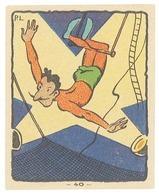 Chromo Banania N°40, Cirque, Trapèziste - Banania
