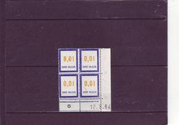 F158 - 0,01 Sans Valeur ( 1351A) - 12.08.1964 - - Coins Datés