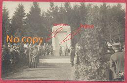 """Gozée Belgique Environ Thuin Carte Photo : Inauguration Monument Aux Morts Allemand """" Ehrenfriedhof """" Guerre De 1914-18 - Andere"""