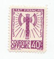 "Fra722 Francia Francobollo Servizio ""Francisque"" | Courrier Officiel N.3 Timbre Service France | 40 Cents Lille  - 1943 - Service"