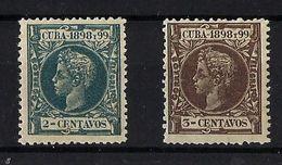 CUBA **160/1 Nuevo Sin Charnela. - Cuba (1874-1898)