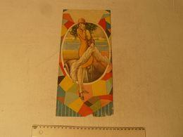 Lithographie, Jeune Femme Art Deco, Par C.Camps. Dim: 16 X 35.5 Cm. - Lithographies
