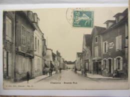 "Cpa CHAOURCE (10)  Grande Rue  ""animée"" - Chaource"