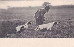 HSM N° 1932 LA CHASSE EN PLAINE AVEC DEUX CHIENS - Cartes Postales