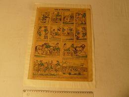 Lithographie, Vive Le Vélocipède. Imagerie D'Epinal Pellerin. Dim: 29 X 38.7 Cm. - Lithographies