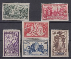 NOUVELLE CALEDONIE : SERIE EXPO 1937 N° 166/171 NEUVE * GOMME AVEC CHARNIERE - Unused Stamps