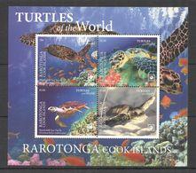 2020 RAROTONGA SEA TURTLES OF THE WORLD MARINE LIFE REPTILES KB MNH - Turtles