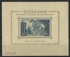 LUXEMBOURG BLOC FEUILLET N° 6 COTE 7 €,50 NEUF * MH 1946 EXPOSITION PHILATELIQUE DUDELANGE - Blocs & Feuillets