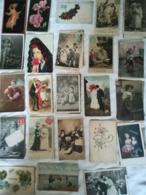 FANTAISIE - Lot D'environ 650 Cartes - Enfants - Bébés - Glacés - Gaufrées - Amoureux - Femmes - Fantaisies