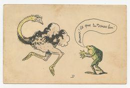 """Anthropomorphe.la Grenouille Et L'autruche Danseuse.  """" Ce Que Tu Danse Bien ! """" - Unclassified"""