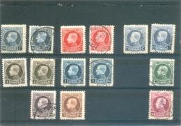 1923 BELGIQUE Y & T N°211 à 219  ( * )  Les 14 Timbres - 1921-1925 Petit Montenez