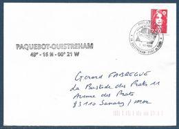 Griffe Paquebot Ouistreham + Tàd Illustré Philatélie 14 Ouistreham Port De Calais / Lettre Affr. 2,50 Marianne De Briat - 1989-96 Marianne Du Bicentenaire