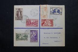 SÉNÉGAL - Enveloppe En Recommandé De Dakar Pour Paris En 1937,affranchissement Série Exposition Internationale - L 62895 - Sénégal (1887-1944)