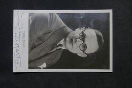 ARTISTE - Pierre BERTIN - Carte Postale Dédicacée D'époque - P 22702 - Entertainers