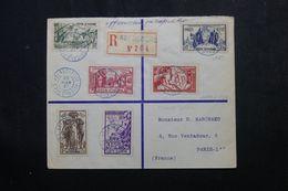 CÔTE D'IVOIRE - Enveloppe En Recommandé De Abengourdue Pour Paris En 1937 Affr. Série Expo Internationale - L 62896 - Côte-d'Ivoire (1892-1944)