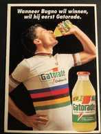 Gianni Bugno - Gatorade - Chateau D'Ax - 1992 - Card / Carte - Cyclist - Cyclisme - Ciclismo -wielrennen - Radsport