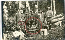 Artillerie Minenwerfer Granatwerfer Soldaten Landsturm Vogesen ? Waldstellung !  WWI Carte  Photo Allemande - Guerre 1914-18