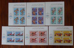 &BAR 62& COMORES MICHEL 825/830 IN BLOCKS OF 4 MNH**. SPORT, BARCELONA 92. TENNIS, CYCLING. - Comoros