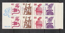 Bundesrepublik Deutschland / 1974 / Markenheftchen Mi. 20d I MZ (mit Zaehlbalken) ** (BP26) - BRD