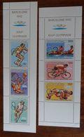 &BAR 16A& COMORES MICHEL 825/830 IN STRIPS MNH**. SPORT, BARCELONA 92. TENNIS, CYCLING. - Comoros