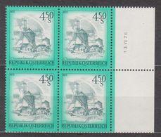 1976 , Mi 1519 ** (22) -  4er Block Postfrisch - Freimarke : Schönes Österreich - Windmühle Aus Retz / Niederösterreich - 1945-.... 2. Republik