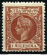 CUBA **154 Nuevo Sin Charnela. - Cuba (1874-1898)