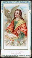 Image Pieuse Holy Card Heilig Prentje Saint Jean évangéliste Aigle Plume écriture Saint John Embossed Eagle Writing - Devotieprenten