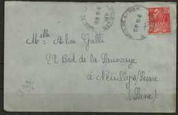 1931. N° YT 272 Seul Sur L., Obl. Cad SOULAC Sur MER (gironde) 15-8-31, Pour NEUILLY Sur SEINE (seine). B - Poststempel (Briefe)