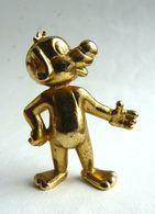 FIGURINE PIF En Metal Doré - PIF GADGET 500 1979 - Manque Socle - Figurillas