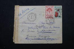 MADAGASCAR - Enveloppe De Tananarive En 1944 Pour Dakar Et Redirigé Vers La Guinée Avec Contrôle Postal - L 62912 - Madagascar (1889-1960)