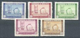 Bolivie YT N°355/359 Nationalisation De L'industrie Pétrolière Neuf ** - Bolivie