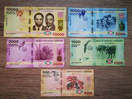 BURUNDI 2015 Set 5 UNC Notes 500 1000 2000 5000 10000 - Burundi