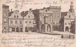 Gruss Aus Lissa I.P. Marktplatz (Ältere Ansicht), 1898. Carl Simon, Isidor Kann. (Leszno). - Poland