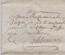 LAC - De TOULOUSE Pour LE RECEVEUR à La BARQUE De POSTE Au CANAL à CASTELNAUDARY - 21 FRIMAIRE AN 10 - Marcophilie (Lettres)