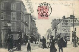 CPA 38 Isère Grenoble Le Cours Berriat Et Le Passage à Niveau - Ciments Berthelot 1905 - Rare - Grenoble