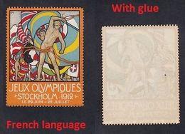 Sweden 1912 STOCKHOLM Olympic Games  Vignette Poster Reklamemarke Label Olympische Spiele Jeux Olympiques (**) - Summer 1912: Stockholm